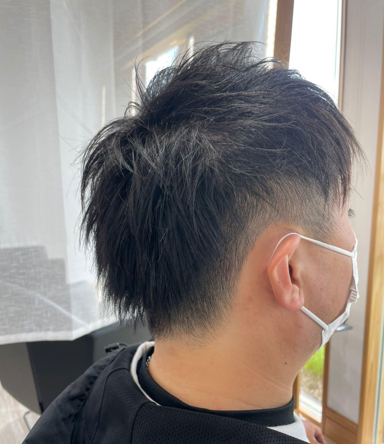 スッキリとマスクもかけやすく何よりかっこよく#totti #hair #color #perm #cut #hairstyle #haircolor #hairarrange #stylist #care #carelist #aujua #イルミナカラー #headspa #treatment #美容院