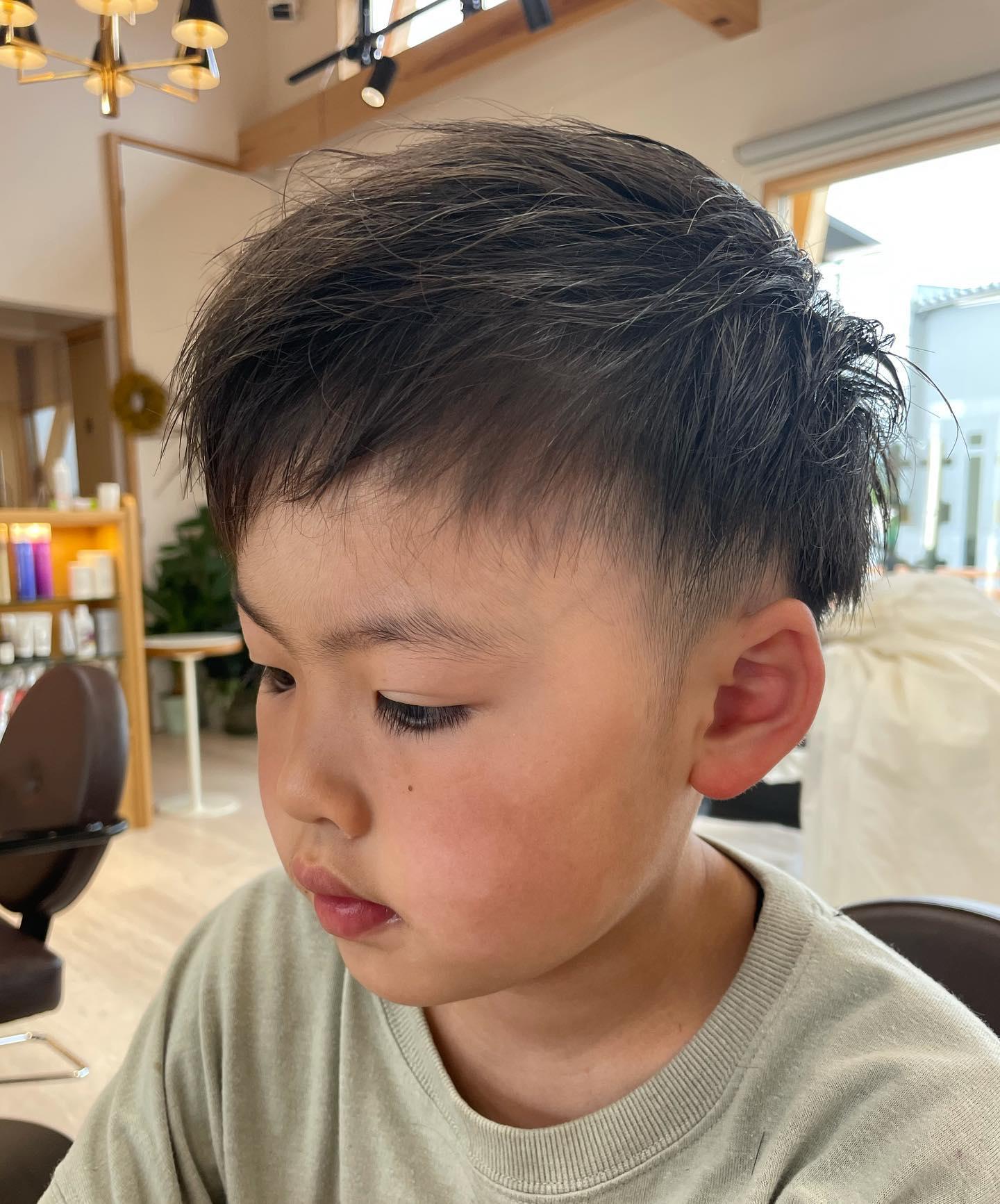 入学と共にかわいいも卒業してカッコいいに😎でもやっぱりいつまでもかわいいいつもありがとうございます🥰#totti #hair #color #perm #cut #hairstyle #haircolor #hairarrange #stylist #care #carelist #aujua #イルミナカラー #headspa #treatment #美容院